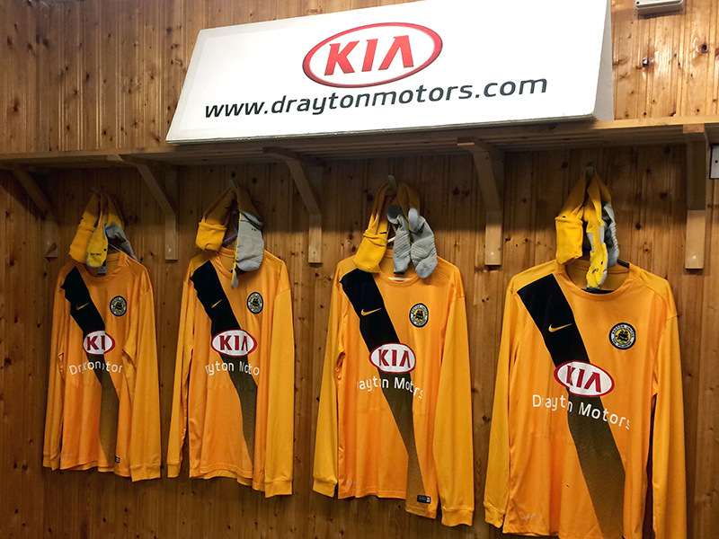 Youth Team unveil sponsor - Drayton Motors