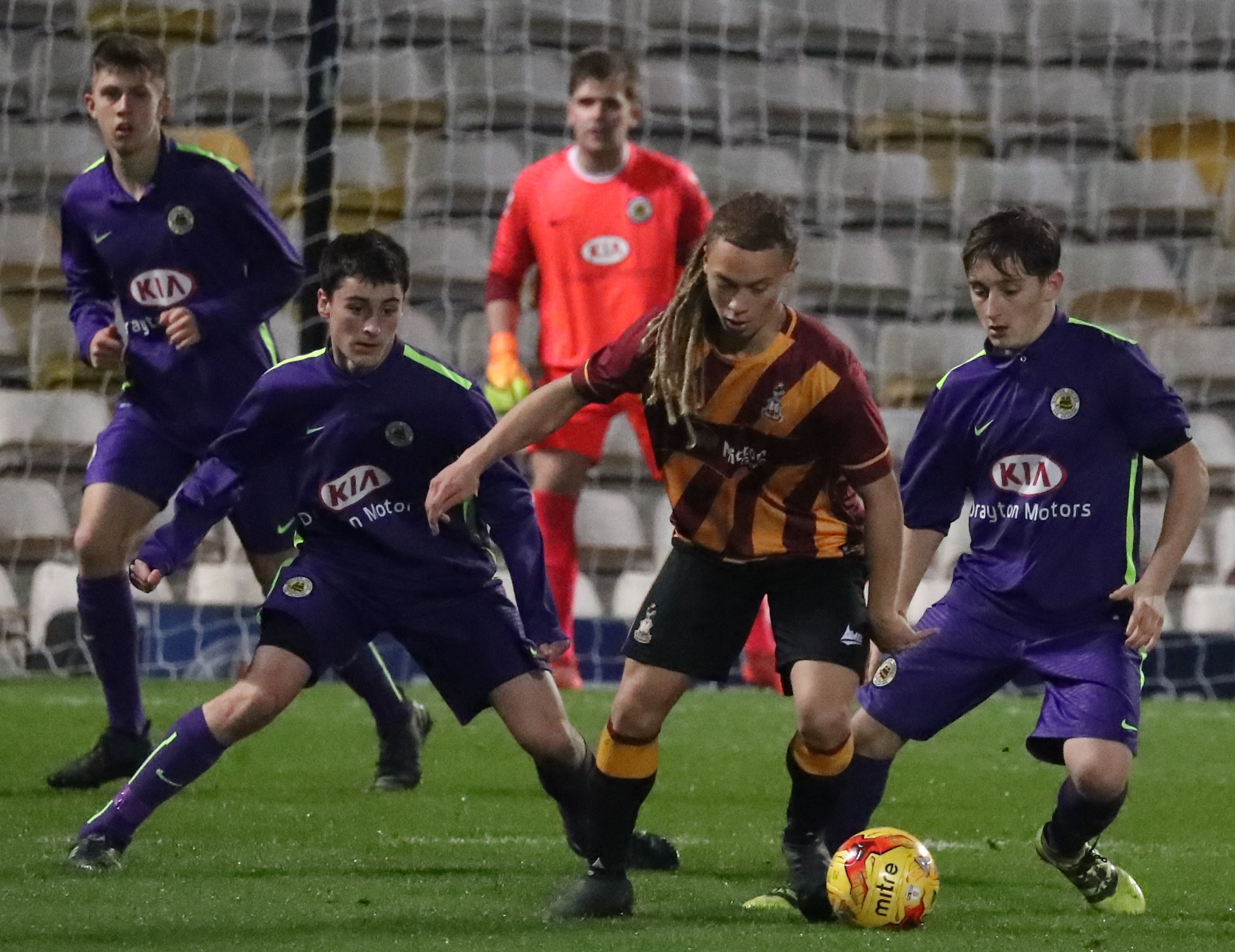 Boston United advanced youth squad - exit trials