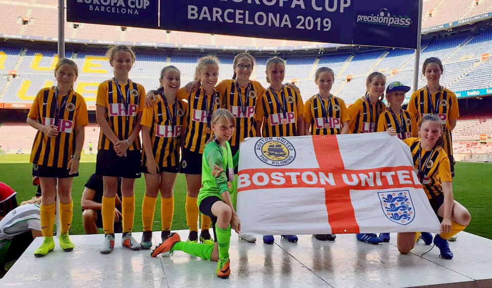 Boston United Under 12s girls - Barcelona