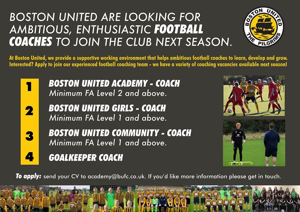 Boston United - football coaching